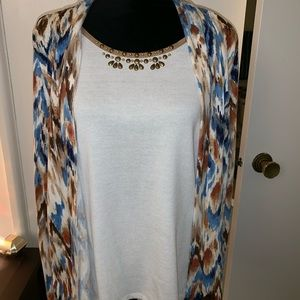 Alfred Dunner shirt with attached cardigan size M